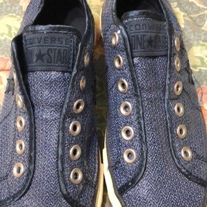 534d7c91b8eb1d Converse Shoes - Converse One Star Laceless Blue Sequenced Size 8